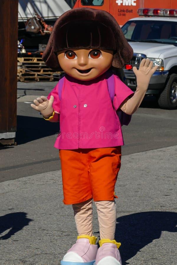 Dora TV charakteru przedstawienie przy Norwalk Łódkowatym przedstawieniem 2016 obrazy royalty free