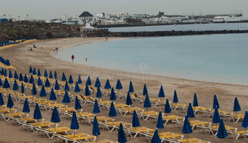 Dorada-Strand in der Insel von Lanzarote lizenzfreie stockfotos