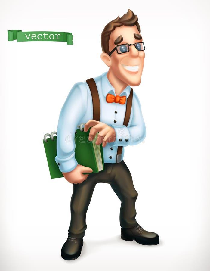 Doradca gospodarczy, logistician, biurowy kierownik, życzliwy młody człowiek 3d ikona wektor royalty ilustracja