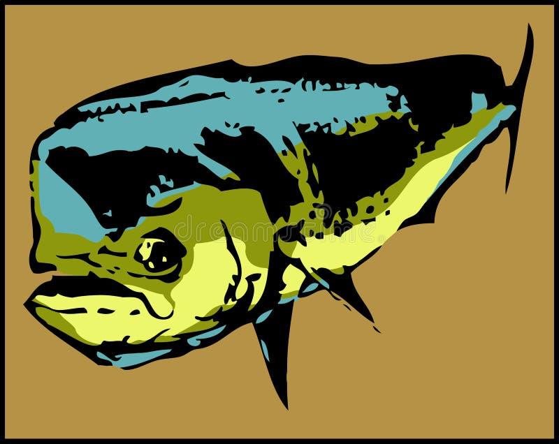 Dorado delfinu Mahi-Mahi ryba - wektor ilustracji