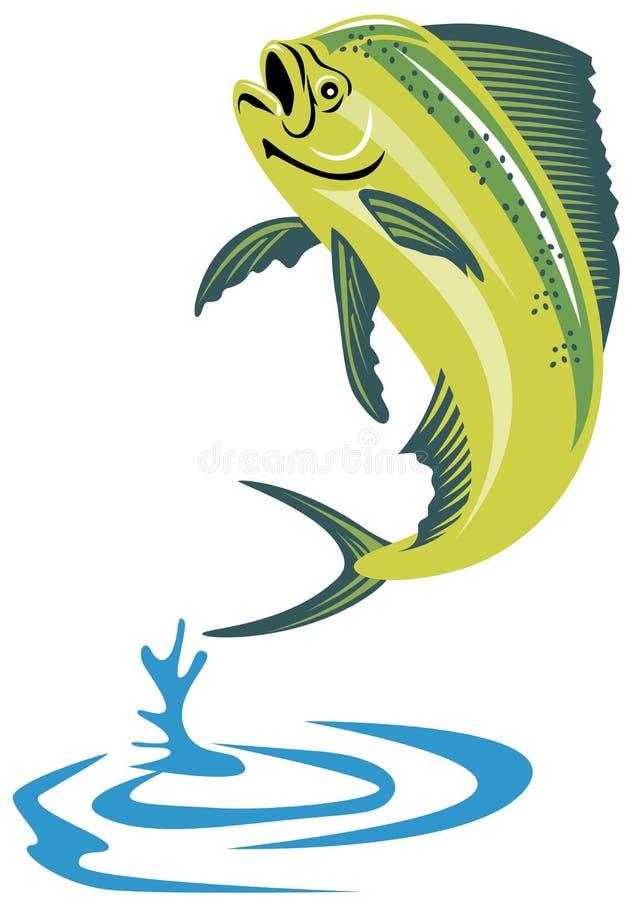 Dorado dolphin fish. Vector art of a Dorado dolphin fish vector illustration