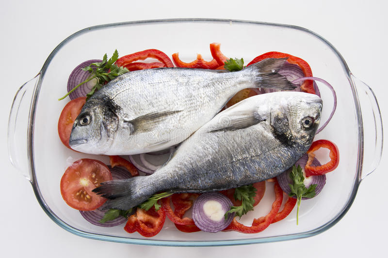 Dorado fish mediterranean recipes stock photos