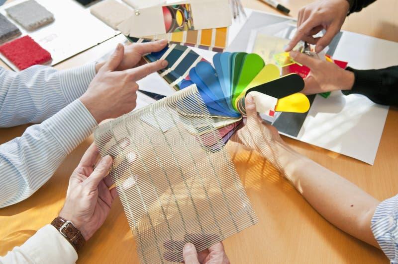 Doradzać sytuacja kolor & materiał zdjęcia stock