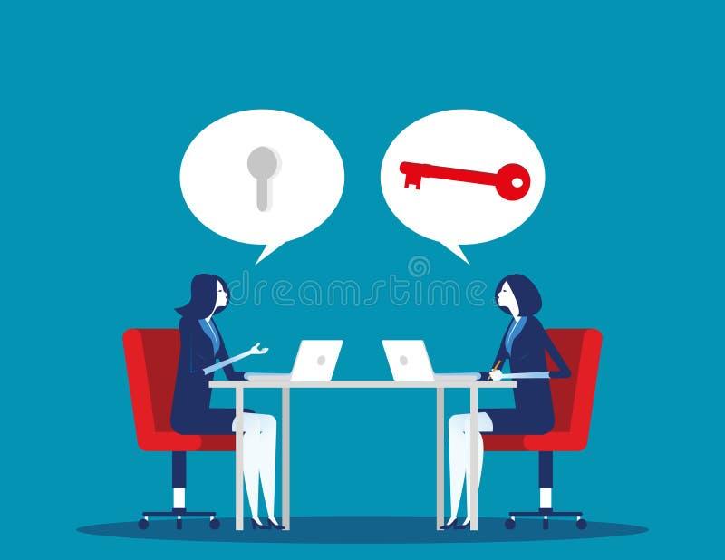 Doradztwo zespołu biznesowego Pojęcie wektora biznesowego, doradcy, doradca lub doradca ilustracji
