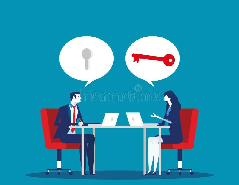 Doradztwo zespołu biznesowego Pojęcie wektora biznesowego, doradcy, doradca lub doradca ilustracja wektor