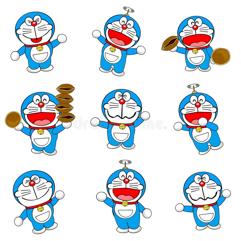 Doraemon illustrazione di stock