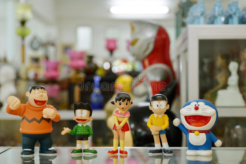 Doraemon con el amigo foto de archivo libre de regalías