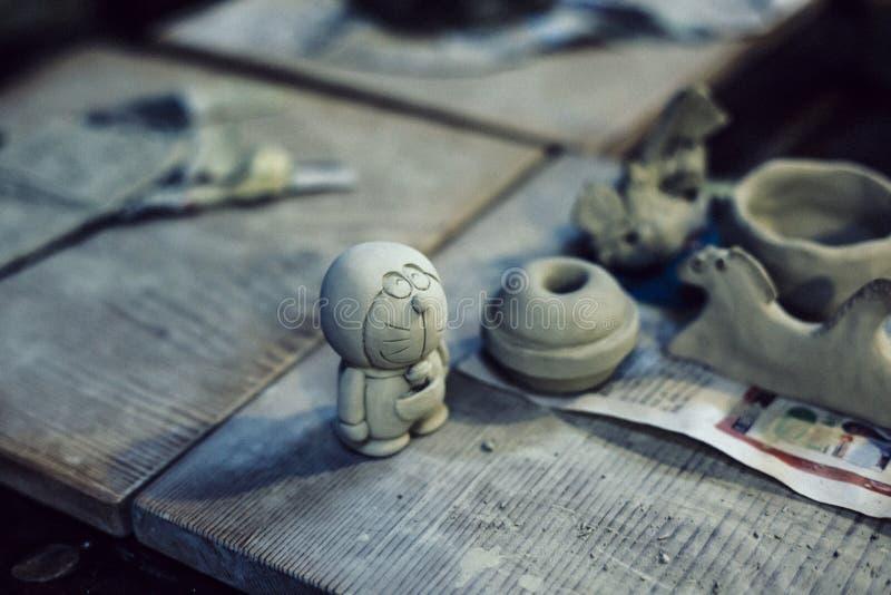 doraemon de cerámica foto de archivo libre de regalías