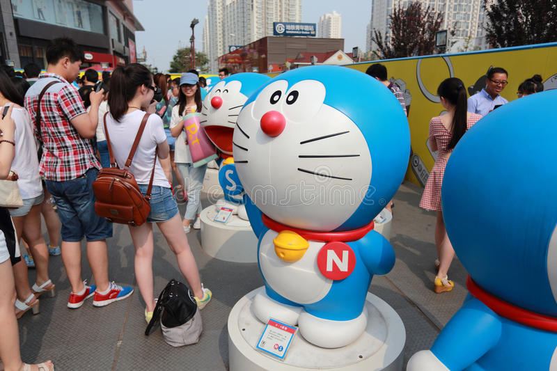 Download Doraemon exhibition editorial stock image. Image of business - 43672604