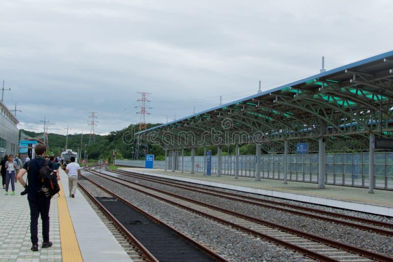 Doran-Bahnstation stockbilder
