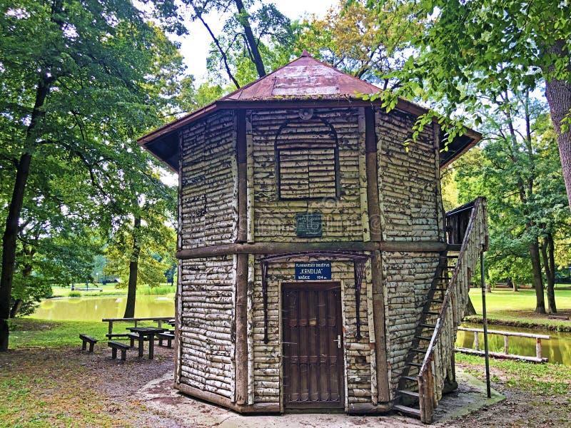 Doras pavilion or Dorin Paviljon - Nasice, Croatia royalty free stock photos