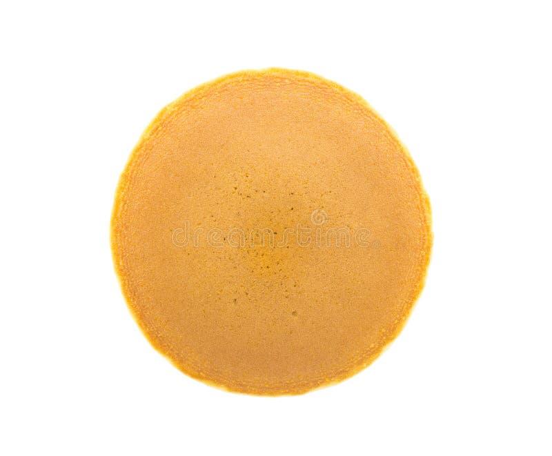 Dorayaki (crepe japonesa) en el fondo blanco foto de archivo