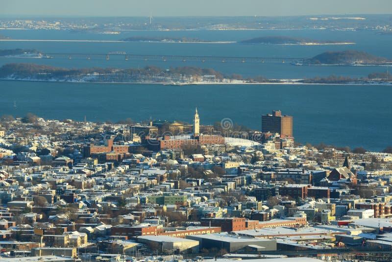 Dorchester höjder, Boston, Massachusetts, USA arkivbild