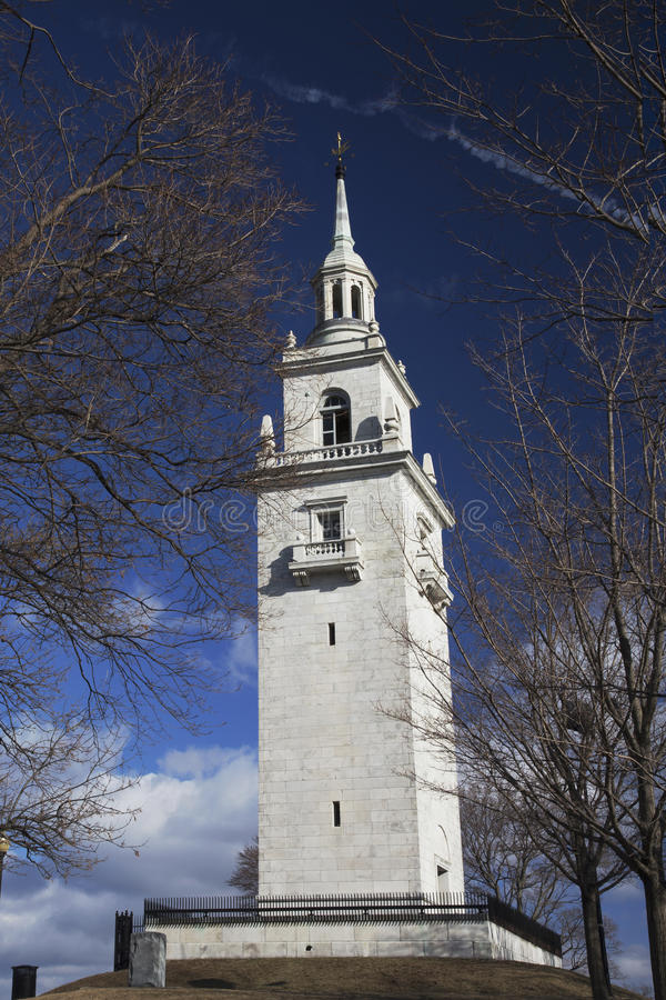 Dorchester Heights Memorial tower in Thomas Park, South Boston Massachusetts, USA stock photography
