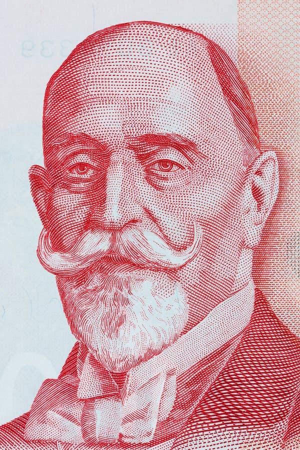 Dorde Vajfert stående från pengar för Serbien ` s royaltyfria foton