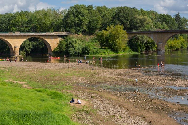 Dordogne et Vezere à Limeuil photo stock