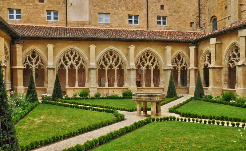 Dordogne, l'abbaye de Cadouin dans Perigord images stock