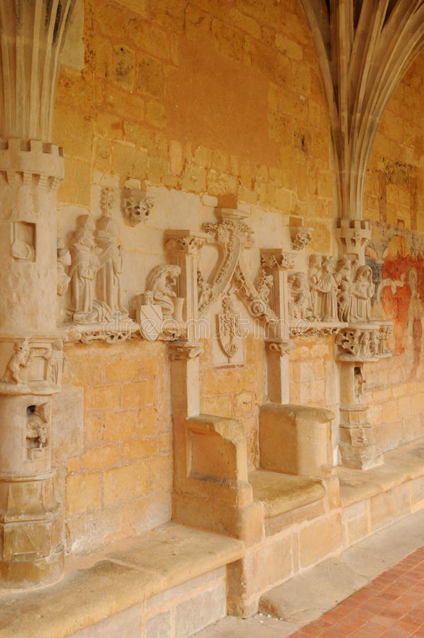 Dordogne, l'abbaye de Cadouin dans Perigord images libres de droits