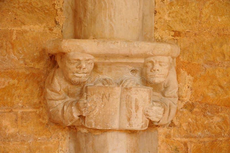 Dordogne, l'abbaye de Cadouin dans Perigord photos stock