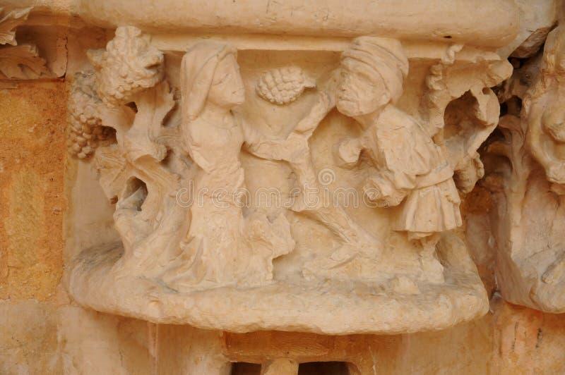 Dordogne, l'abbaye de Cadouin dans Perigord photos libres de droits