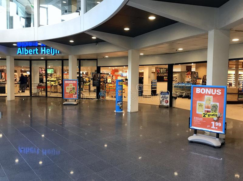 Albert Heijn entrance stock photos