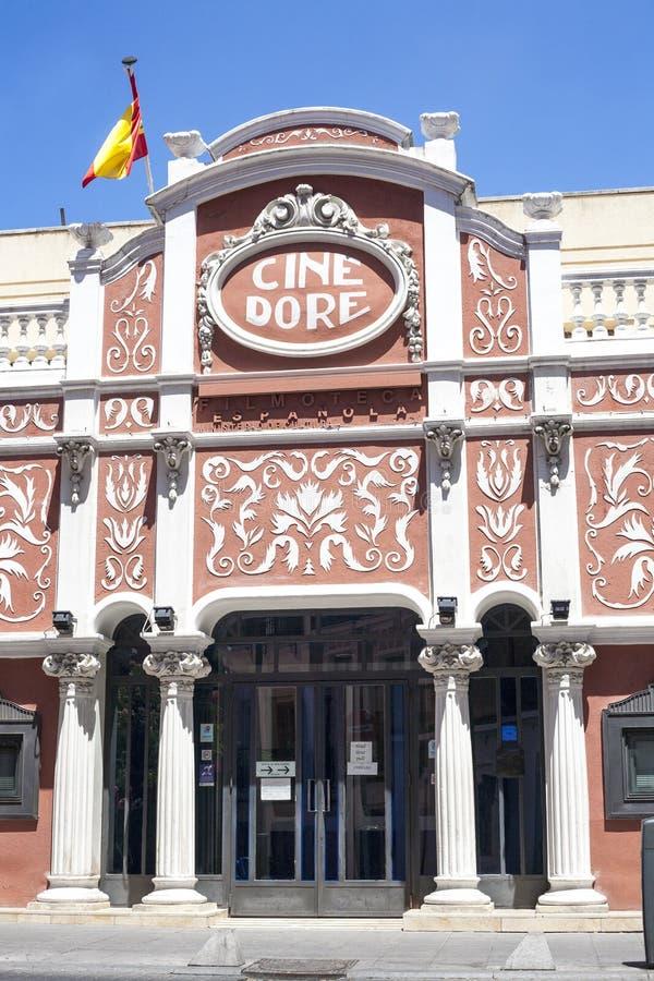 Dore戏院大厦,马德里 免版税库存照片
