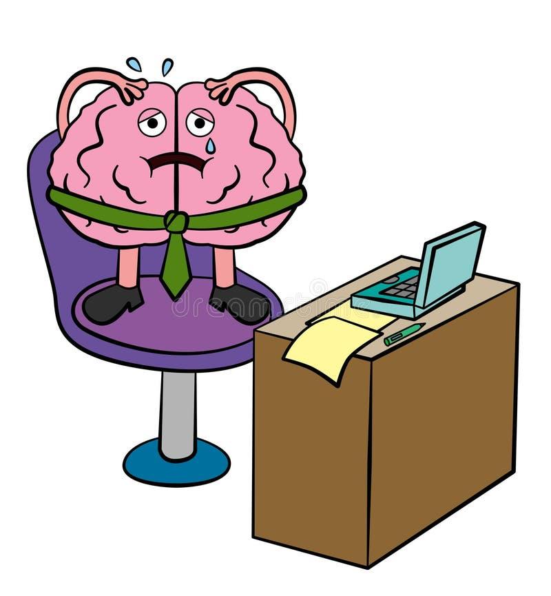 Dores do cérebro ilustração royalty free