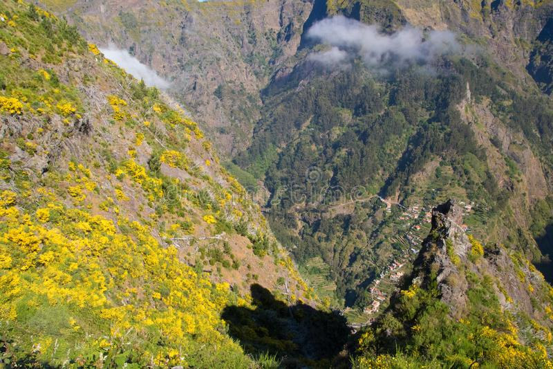 Dorf Curral DAS Freiras in Madeira-Insel, Portugalia lizenzfreie stockfotos