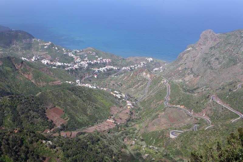 Dorf in den Anaga Bergen stockbilder