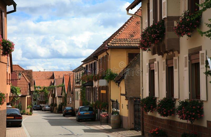 Dorf in Elsass, Frankreich stockfoto