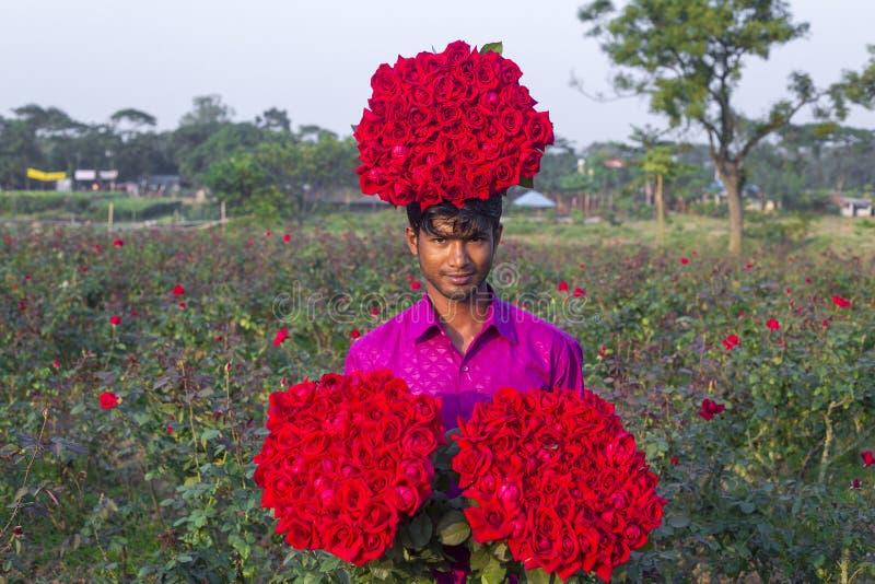 Dorf Golap GramRose ist eins des schönen Platzes in Bangladesch stockfoto