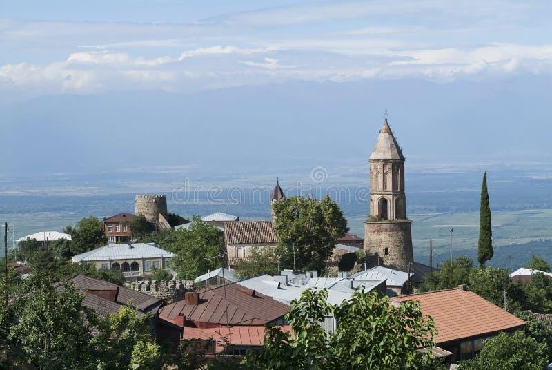 Dorf in Kakheti Ostgeorgia lizenzfreie stockfotos