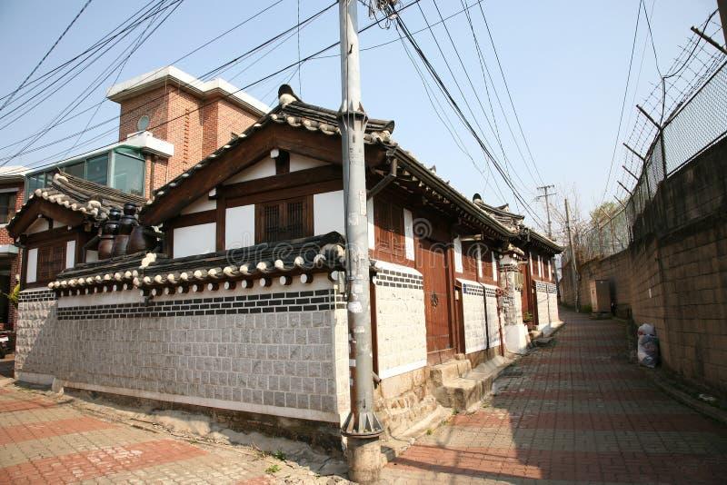 Dorf Korea-Bukchon Hanok lizenzfreie stockfotos