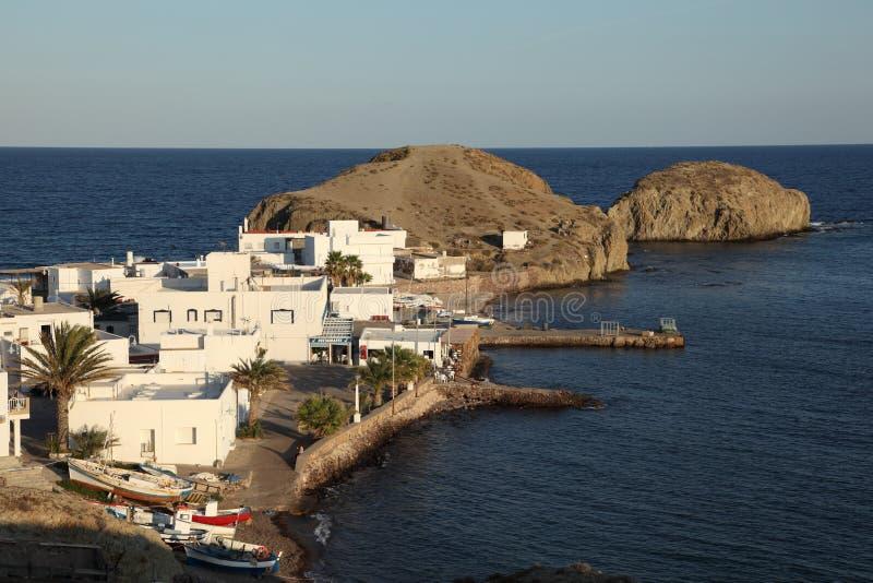Dorf-La Isleta, Almeria Spanien lizenzfreie stockfotos