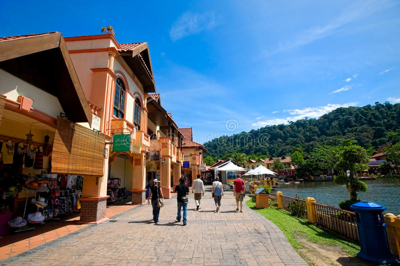 Dorf Langkawis Orientale lizenzfreies stockfoto