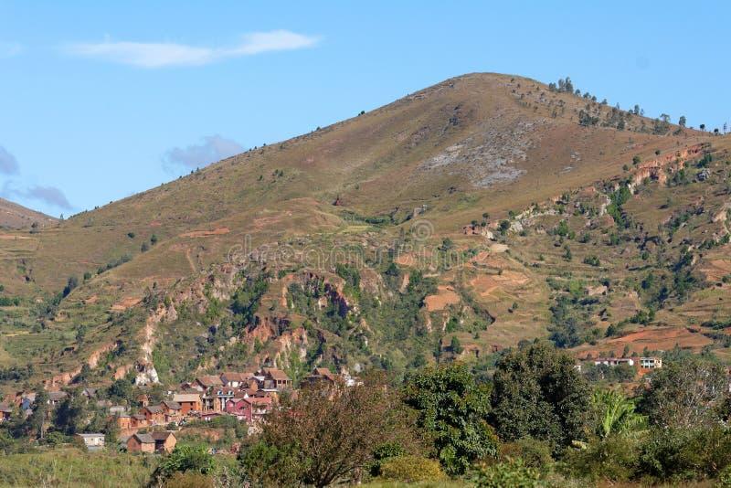 Dorf in Madagaskar lizenzfreies stockbild