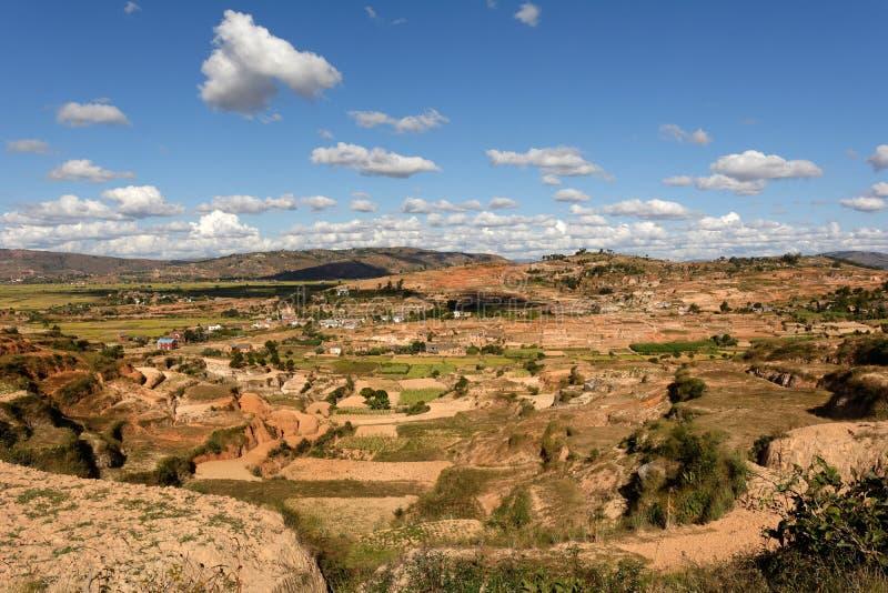 Dorf in Madagaskar stockbilder