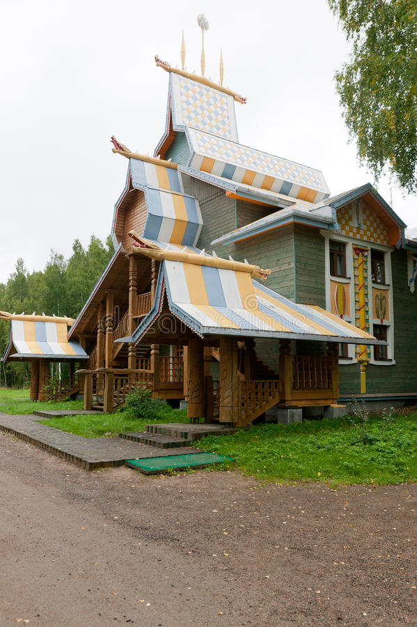 Dorf Mandrogi stockbild