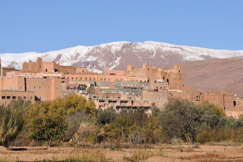 Dorf in Marokko stockbilder