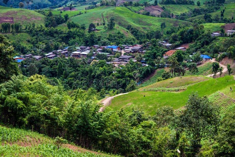 Dorf in Nord-Thailand stockfoto