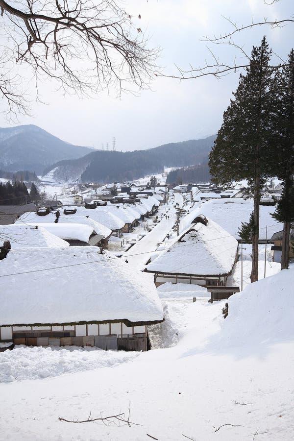 Dorf Ouchi Juku stockbilder