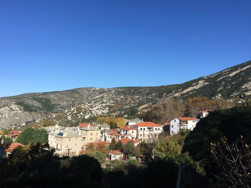 Dorf Portaria in Griechenland stockfoto