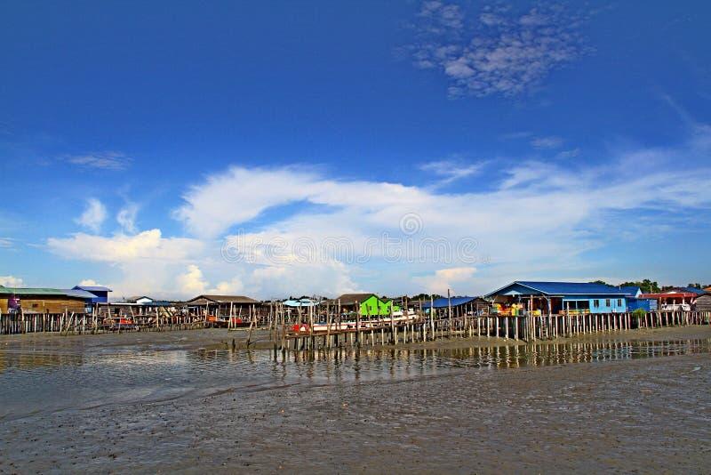 Dorf Pulau Ketam (Krabben-Insel), Malaysia lizenzfreies stockbild