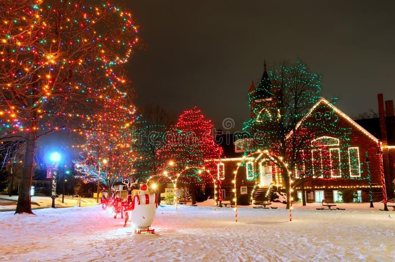 Dorf-quadratisches Weihnachten stockfoto