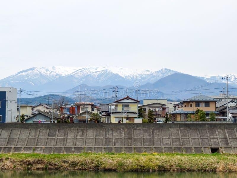 Dorf in Sendai-Stadt, Japan stockfotografie