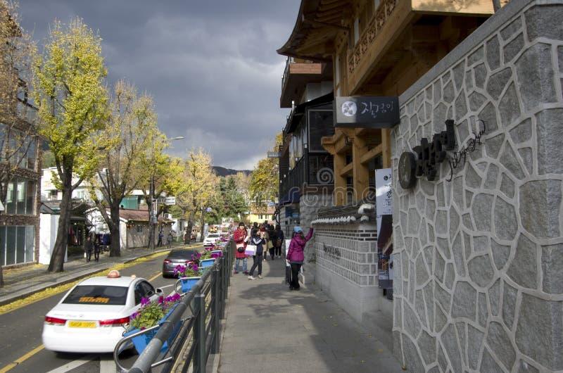 Dorf Seoul Korea Bukchon Hanok lizenzfreie stockbilder