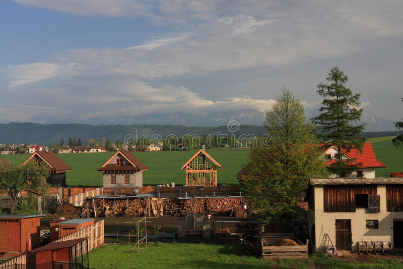 Dorf Slowakei lizenzfreie stockfotos