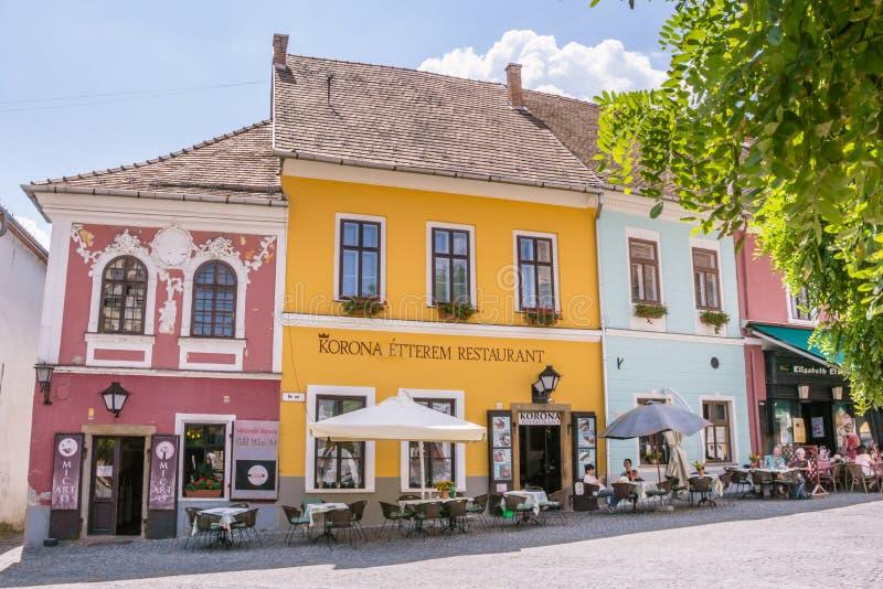 Dorf Szentendre in Ungarn stockfoto
