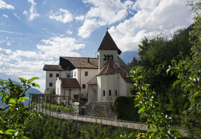 Dorf Tirol, Italië stock afbeeldingen