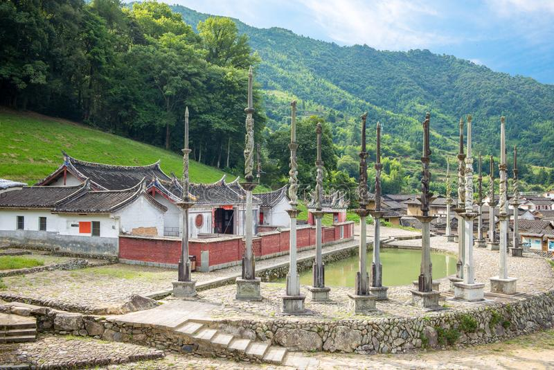 Dorf Tulou Taxia in Fujian, China stockbild